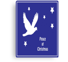 Peace At Christmas Greeting Card Canvas Print