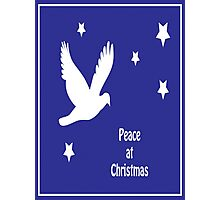 Peace At Christmas Greeting Card Photographic Print