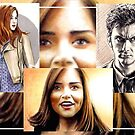 Doctor Who sketchcards by wu-wei