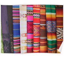 Colorful Shawls Poster