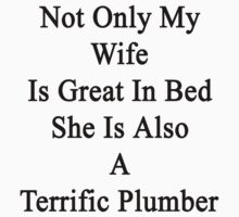 Not Only My Wife Is Great In Bed She Is Also A Terrific Plumber by supernova23