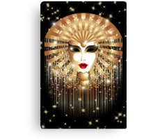 Golden Venice Carnival Mask  Canvas Print