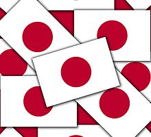 Iphone Case - Flag of Japan Multiple II by Mark Podger