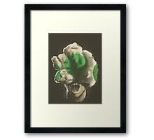 Mushroom Kingdom clicker [Green] - Mario / The Last of Us Framed Print