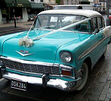 Chevy Belair Wedding Car by lynn carter