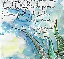 Illustrated quote (Spanish), La canción secreta del mundo by misscristal