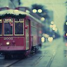 Streetcar on Canal St. New Orleans by Alfonso Bresciani