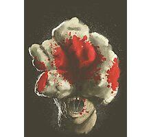 Mushroom Kingdom clicker [Blood Red] - Mario / The Last of Us Photographic Print