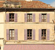 Purple shutters - Arles, Provence by Mandy Gwan