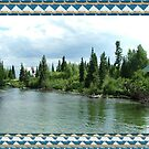 Grand Teton National park, clear river, trees. Nature landscape photography. by naturematters