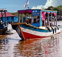 Cambodian Water Taxi by phil decocco