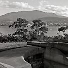 Hobart & Mt Wellington from Kangaroo Bluff by Brett Rogers