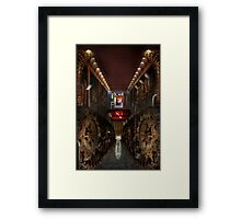Steampunk - Dystopian society Framed Print