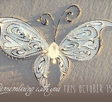 October 15th Butterfly - White by CarlyMarie