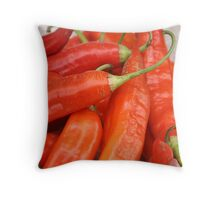Red Peppers at the Otavalo Market Throw Pillow