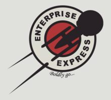 Enterprise Express...Boldy go... by KillerBrick Tees