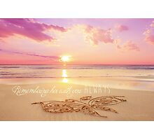 Remembering Her With You Always Photographic Print