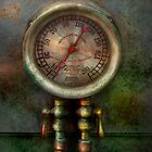 Steampunk - Train - Brake cylinder pressure  by Mike  Savad