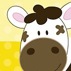 Happy Cow iPhone Case - Yellow dot by JessDesigns