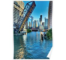Chicago River and Willis Tower Poster