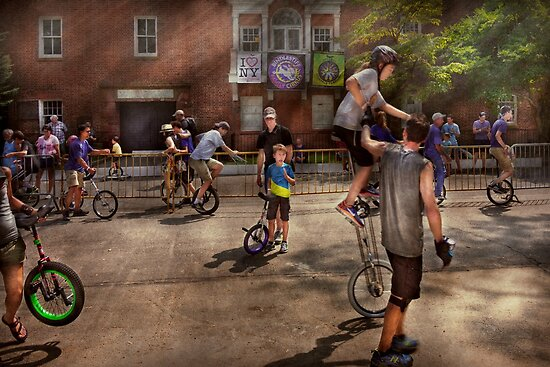 Unicyclist - Unicycle training camp by Mike  Savad