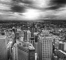 Sydney View (Black & White) by Stefano Geminiani