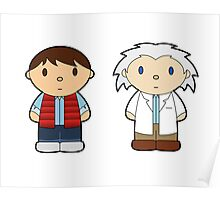 Cartoon Friends: Marty and Doc Poster