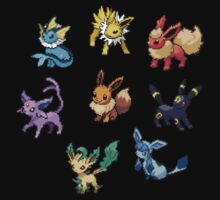 Pixel Eeveelutions V.2 by Flaaffy