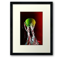 Water + Lemon Framed Print