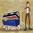 A Docctor and his luggage by Nana Leonti