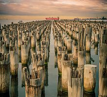 Sunrise at Princes Pier, Port Melbourne by Julie Begg