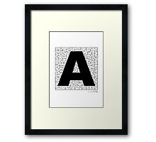 A-Maze-ing Framed Print