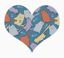 funny cartoon cats  Kids Clothes