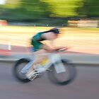 Cyclist rides at World Triathlon Final London 2013 by santinopani
