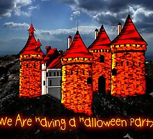 A Halloween Castle invitation to a party by Dennis Melling
