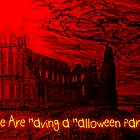 A Dracula Halloween Abbey invitation to a party by Dennis Melling