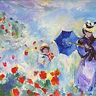 Poppies At Argenteuil Claude Monet by schiabor