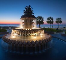 Charleston South Carolina Pineapple Fountain Scenic  by MarkVanDyke