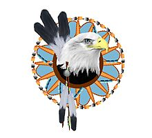 Eagle Dreamcatcher Photographic Print
