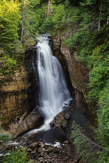 Miner's Falls - Pictured Rocks National Lakeshore Park by Robert Kelch, M.D.