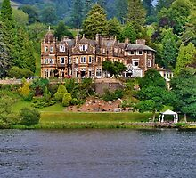 Langdale Chase Hotel, Lake Windermere by Paula J James