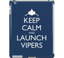 Keep Calm and Launch Vipers (Blue) iPad Case/Skin