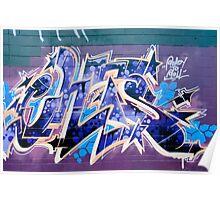 Abstract Graffiti Art fragment  Poster
