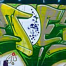 Abstract Graffiti Art fragment in Green by yurix