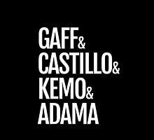 Gaff & Castillo & Kemo & Adama (black) by olmosperfect