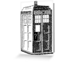 Tardis Word Art Greeting Card
