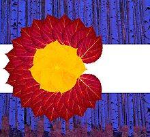 aspen tree Colorado flag by emilycl88