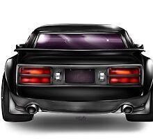 Modified Black Datsun Z by Seruki