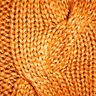 Orange Cable Knit Pattern by CaseBase