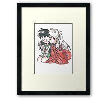 Inuyasha and Kagome  Framed Print